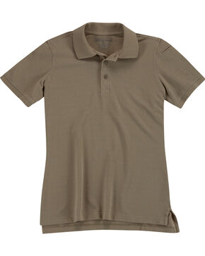 5.11 Tactical Women's Professional Short Sleeve Polo, Tan, hi-res