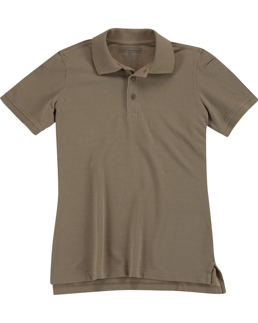 5.11 Tactical Women's Professional Short Sleeve Polo, Tan, hi-res