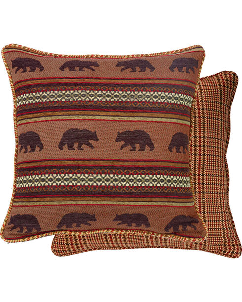 HiEnd Accents Bayfield Houndstooth Bear Euro Sham, Multi, hi-res