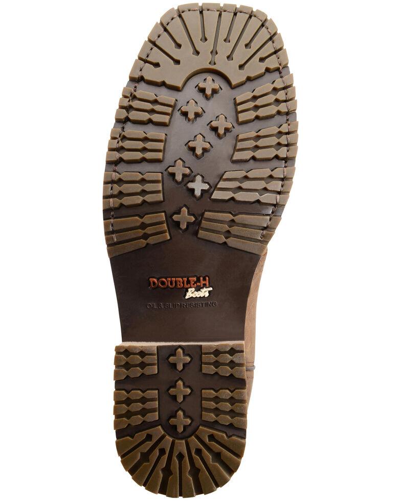 Double H Men's Ice Roper Waterproof Western Work Boots - Composite Toe, Brown, hi-res