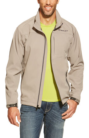 Ariat Grey and Black Vernon Softshell Jacket, Grey, hi-res
