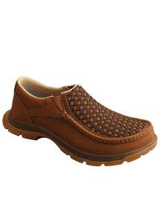 Twisted X Men's Brown Basket Weave Chukka Shoes - Moc Toe, Brown, hi-res