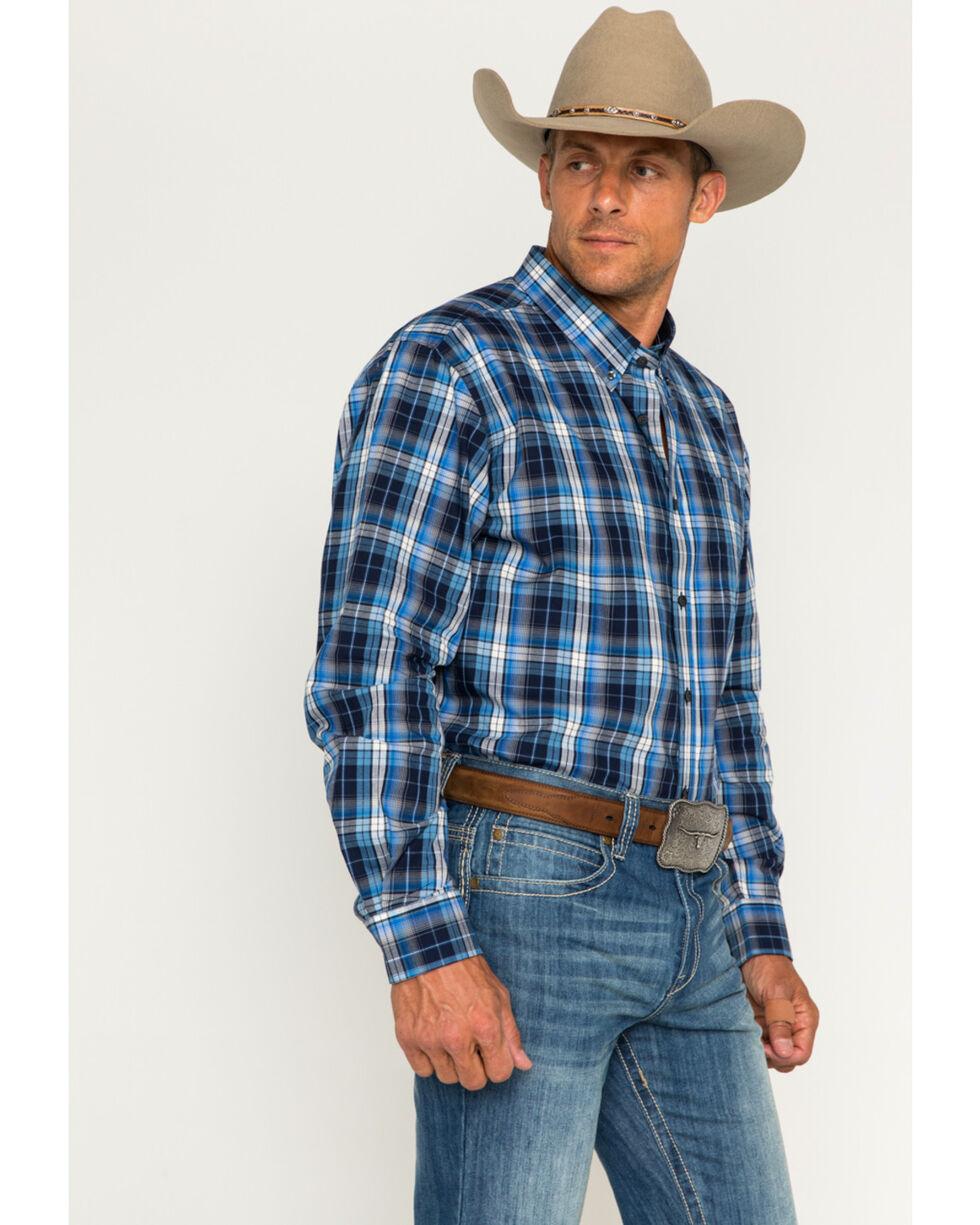 Cody James Men's Martingale Plaid Long Sleeve Button Down Shirt, Blue, hi-res