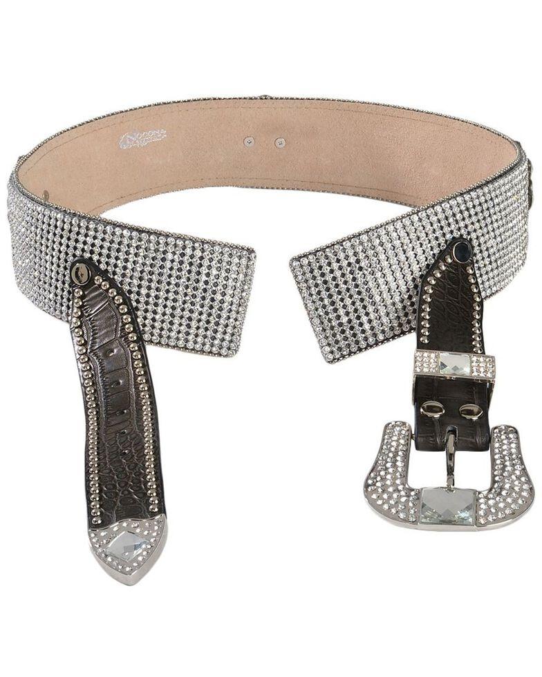 Blazin Roxx Crystal Concho Belt, Brown, hi-res