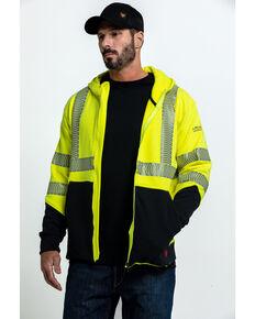 Ariat Men's FR Hi-Vis Full Zip Work Hooded Jacket , Bright Yellow, hi-res
