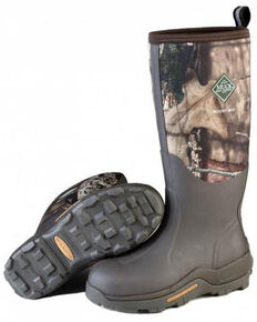 Muck Boots Men's Woody Max Rubber Boots - Round Toe, Camouflage, hi-res