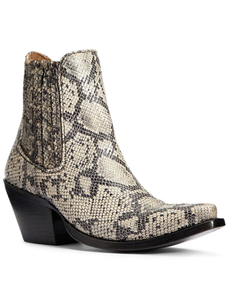 Ariat Women's White Snake Eclipse Fashion Booties - Snip Toe, Black, hi-res
