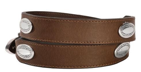 Nocona Basic Leather Concho Belt, Brown, hi-res