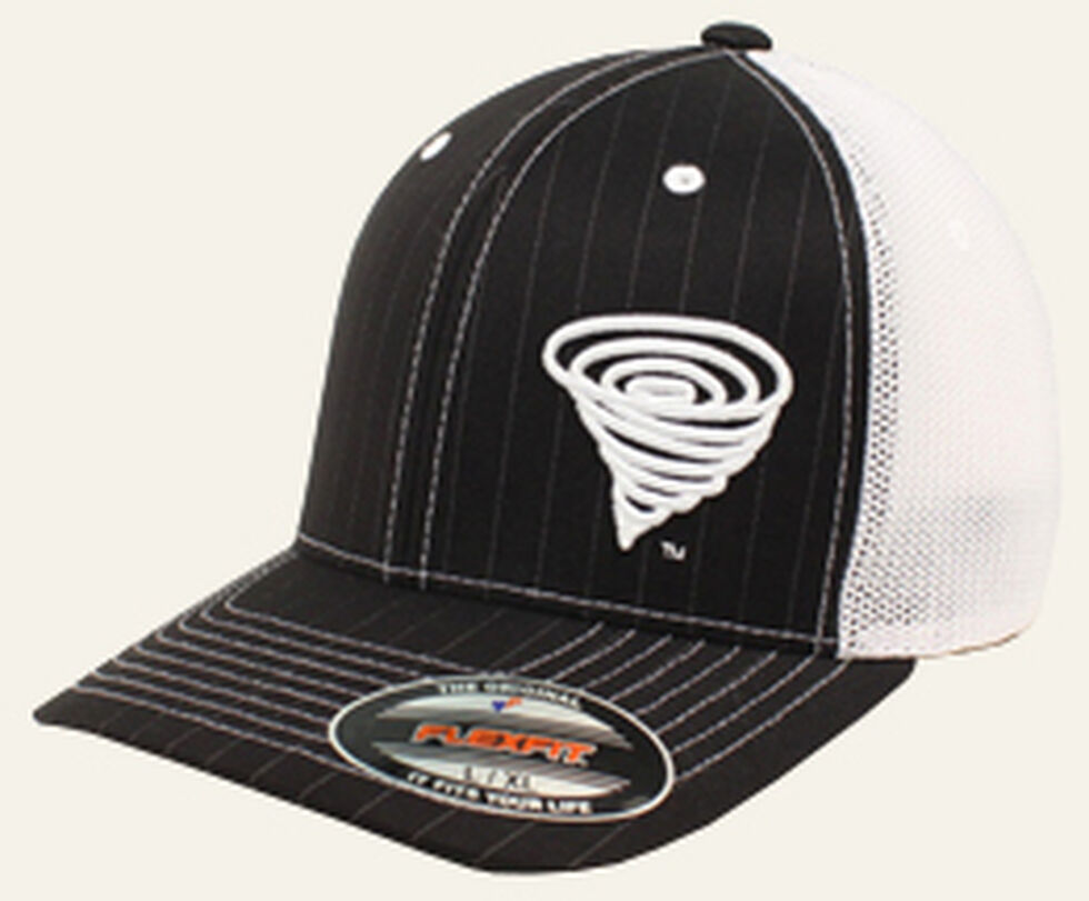 Twister Youth Logo Pinstripe Mesh Back Ball Cap, Black, hi-res