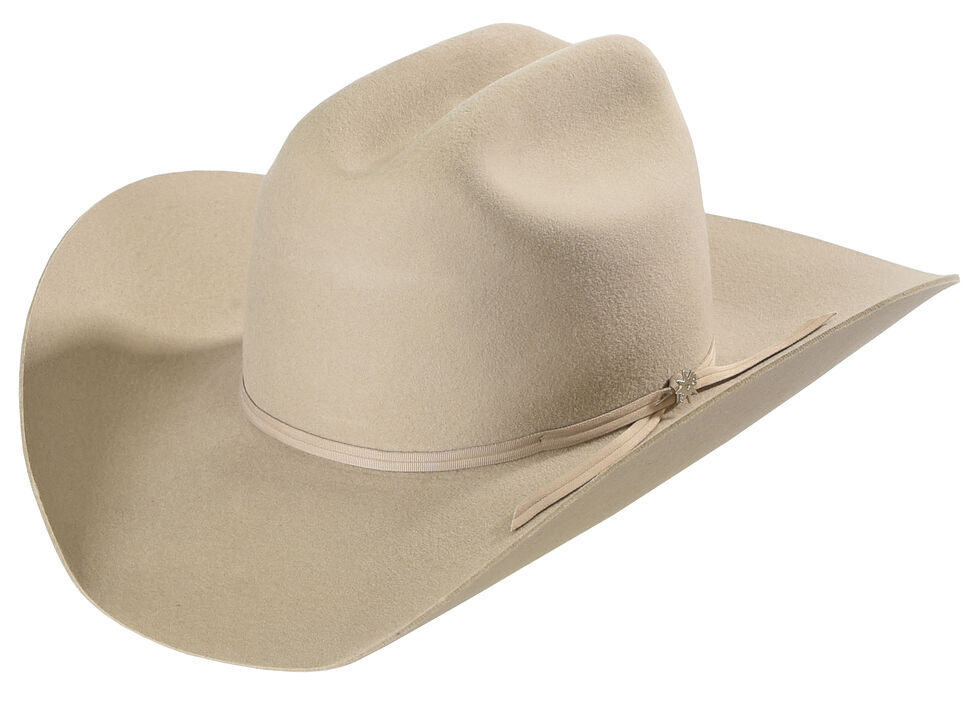 Bailey Western Stampede Silver Cattleman Crown Hat, Silverbelly, hi-res