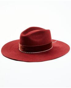 Idyllwind Women's Mayberry Wool Felt Western Hat , Burgundy, hi-res