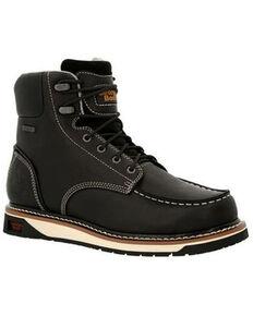 Georgia Boot Men's AMP LT Wedge Work Boots - Soft Toe, Black, hi-res
