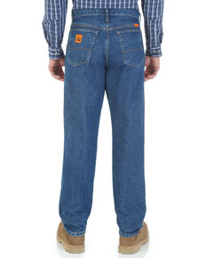 Wrangler Men's Flame Resistant Relaxed Fit Work Jeans , Indigo, hi-res