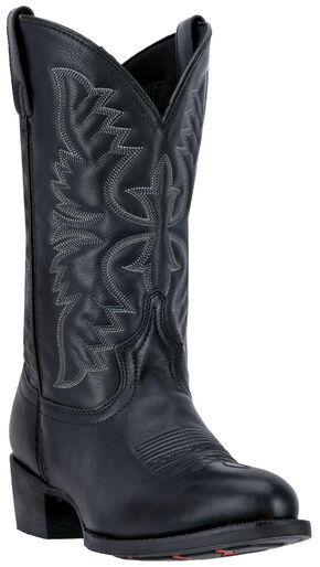Laredo Birchwood Cowboy Boots - Medium Toe , Black, hi-res
