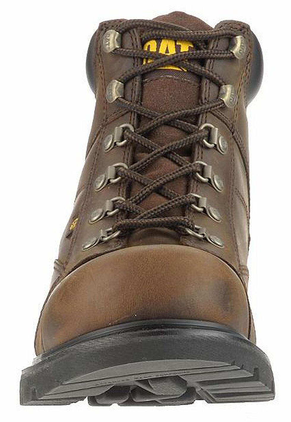 "Caterpillar 6"" Mortar Lace-Up Work Boots - Steel Toe, Dark Brown, hi-res"
