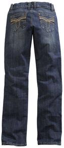 Tin Haul Women's Mimi X-Boyfriend Straight Leg Gold Loop Embroidered Jeans, Denim, hi-res
