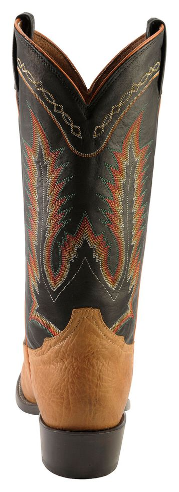 Tony Lama Pecan Taurus Shoulder Cowboy Boots - Medium Toe, Pecan, hi-res