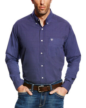 Ariat Men's Elliot Print Button Down Shirt - Big & Tall, Blue, hi-res