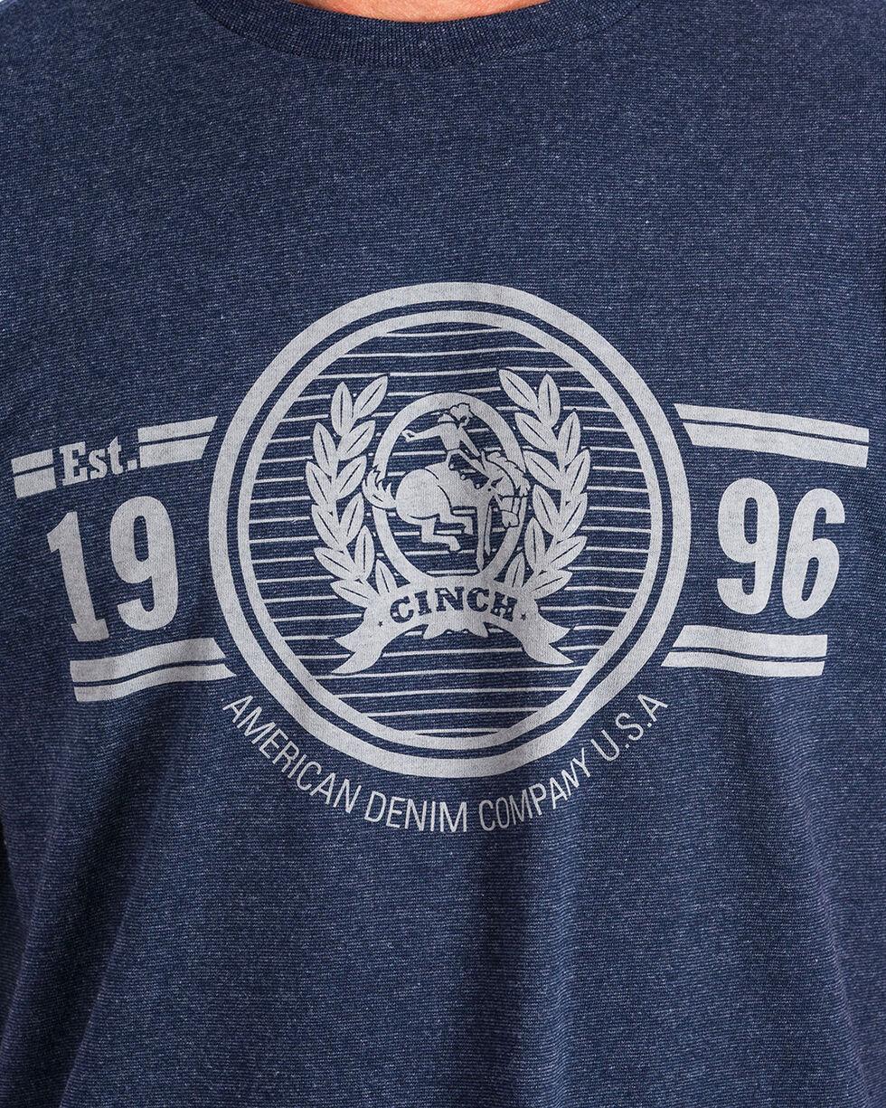 Cinch Men's Logo Short Sleeve Tee, Navy, hi-res