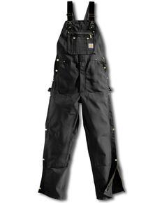 Carhartt Zip-to-Thigh Work Overalls, Black, hi-res