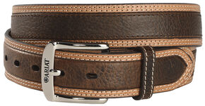 Ariat Brown Diesel Wheel Edge Belt - Reg & Big, Brown, hi-res