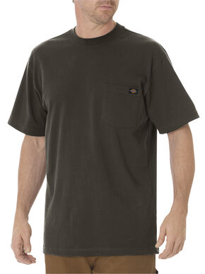 Dickies Men's Short Sleeve Heavyweight T-Shirt, Dk Olive, hi-res