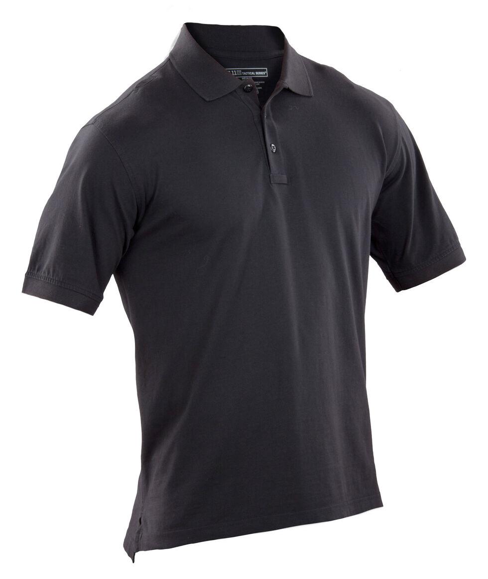 5.11 Tactical Jersey Short Sleeve Polo, Black, hi-res