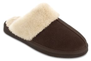 Minnetonka Women's Chesney Scuff-Free Slippers, Chocolate, hi-res