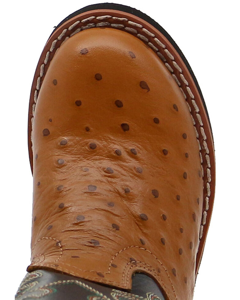 Cody James Boys' Ostrich Print Western Boots - Round Toe, , hi-res