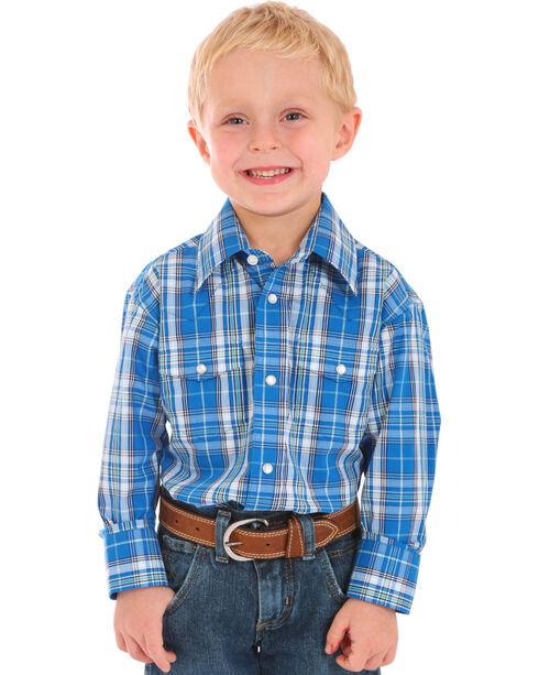Wrangler Boys' Assorted Wrinkle Resistant Shirt , Multi, hi-res