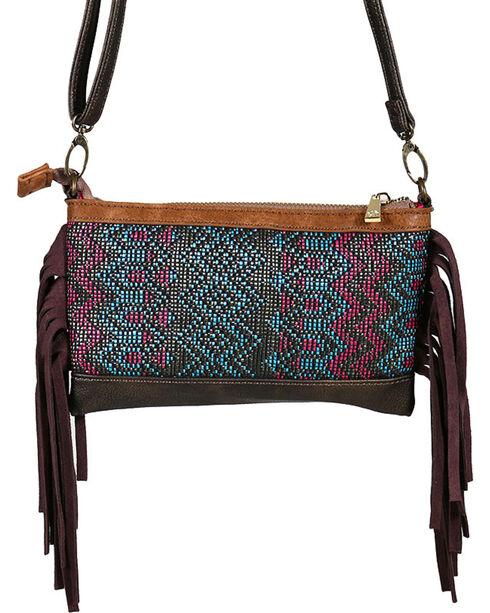 Catchfly Women's Fringe Trimmed Crossbody Bag, Bronze, hi-res