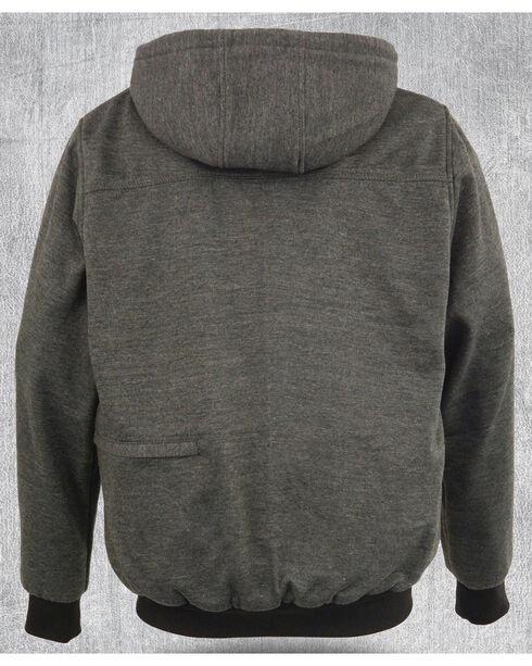 Milwaukee Leather Men's Grey Zipper Front Heated Hoodie - Big 3X , Grey, hi-res