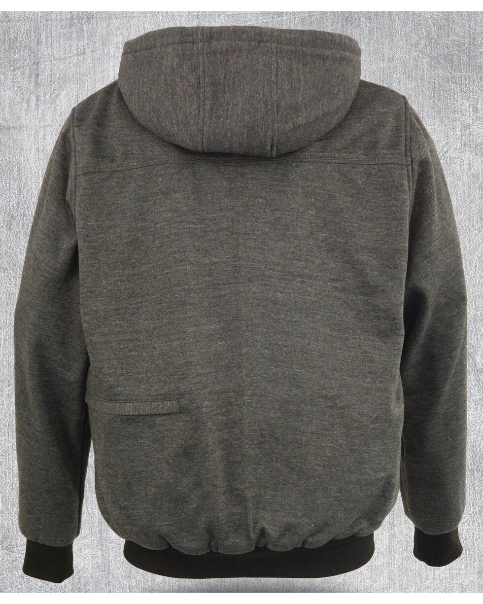 Milwaukee Leather Men's Grey Zipper Front Heated Hoodie - Big 3X , Grey, hi-res
