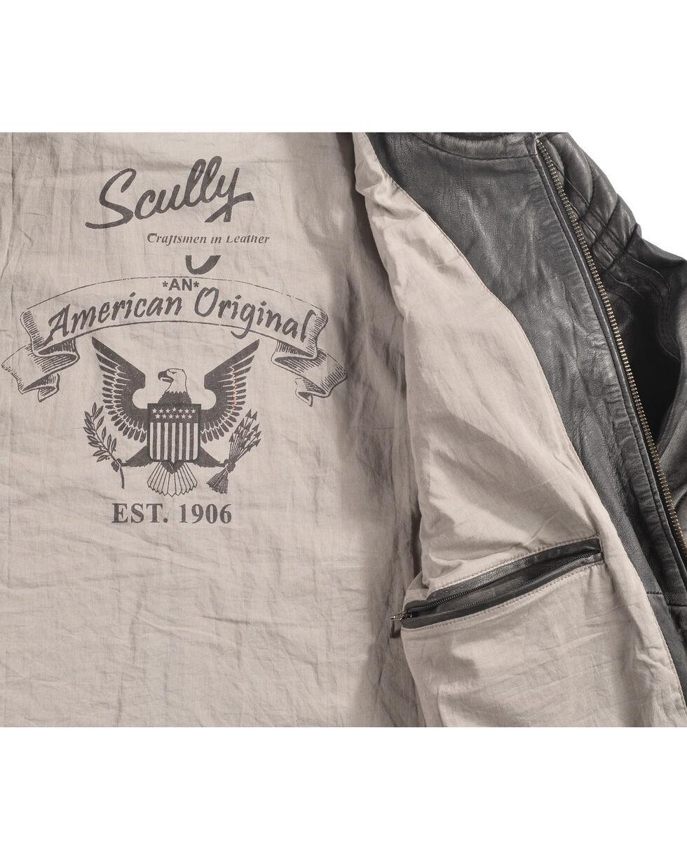 Scully Men's Black Motorcycle Leather Jacket , Black, hi-res