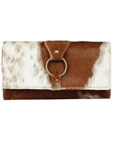 Myra Bag Women's Cowhide Wallet, Brown, hi-res