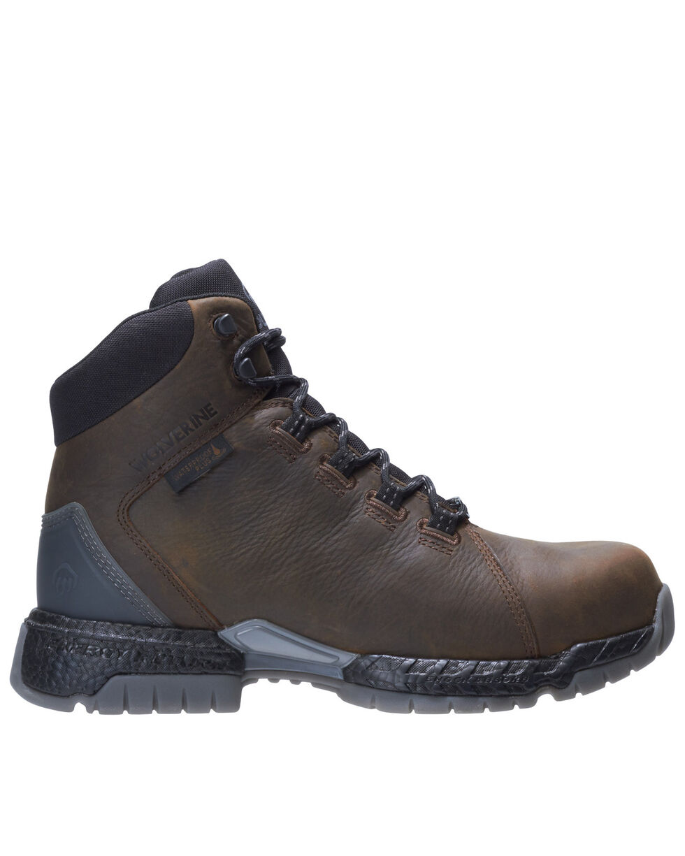Wolverine mens I-90 Rush Composite or Soft Toe Waterproof Work Boot Leather