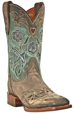 Dan Post Blue Bird Cowgirl Boots - Square Toe, Copper, hi-res
