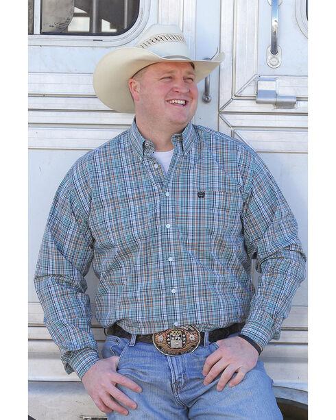 Cinch Men's Plaid Plain Weave Long Sleeve Button Down Shirt, Multi, hi-res