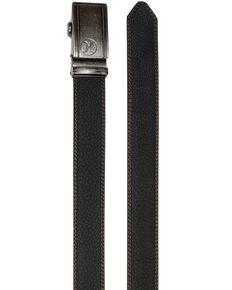 HOOey Men's Ratchet Leather Belt, Black, hi-res