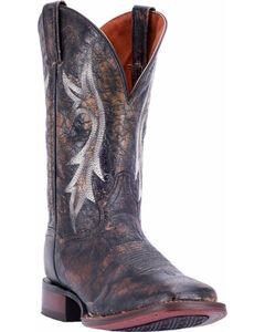 Dan Post Men's Black Junction Boots - Square Toe , Black, hi-res