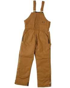 Dickies Men's Duck Insulated Bib Overalls, Brown Duck, hi-res