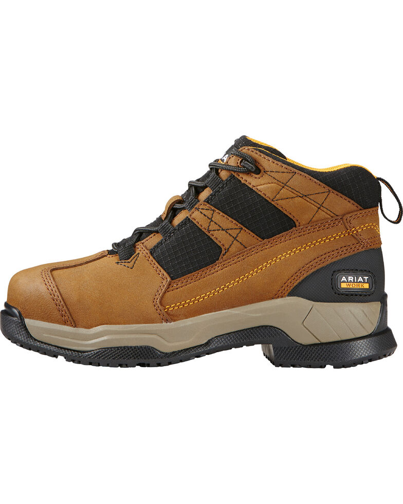 Ariat Women's Contender Work Boots - Steel Toe, Brown, hi-res
