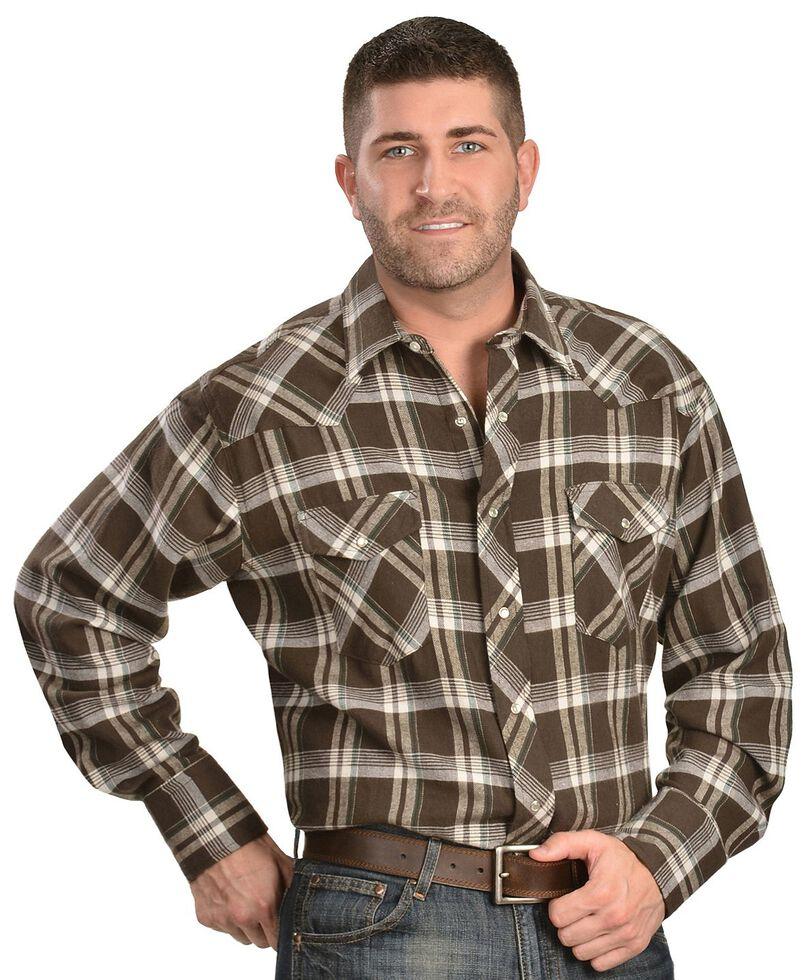Wrangler Assorted Plaid 4.5 oz. Flannel Western Shirts - Tall, Plaid, hi-res
