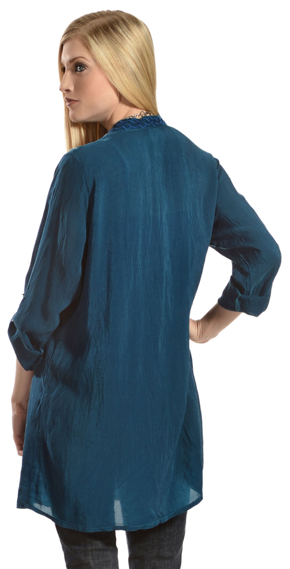 Johnny Was Women's Chayanna Blouse, Blue, hi-res