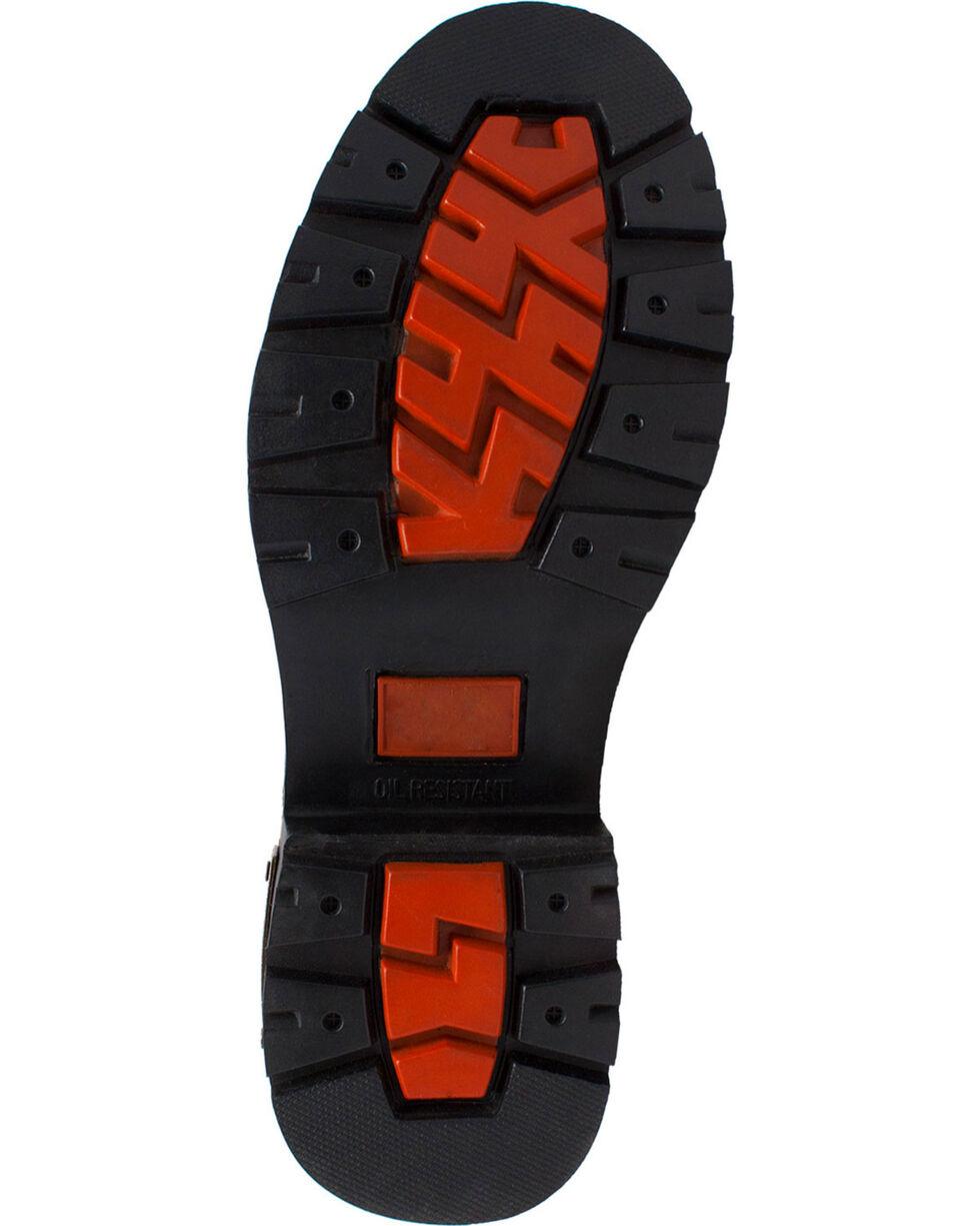 """Ad Tec Men's 6"""" Lace Zipper Biker Boots - Round Toe, Black, hi-res"""