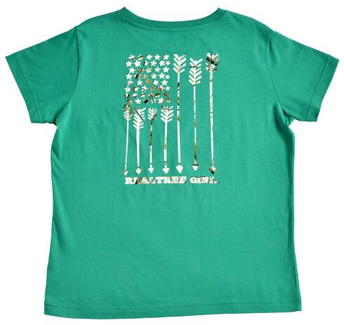 Realtree Women's Green Snow Flag T-Shirt , Green, hi-res