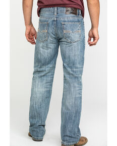 Rock & Roll Cowboy Men's Double V Stitch Vintage Straight Jeans , Blue, hi-res