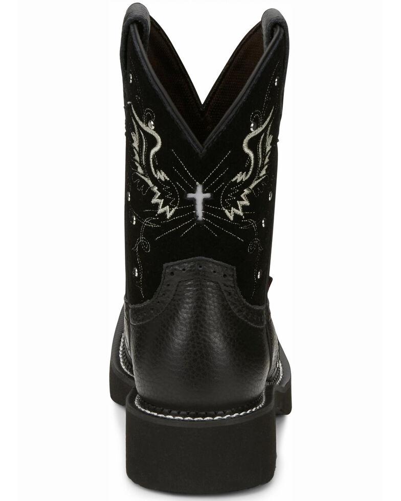 Justin Women's Mandra Black Western Boots - Square Toe, Black, hi-res