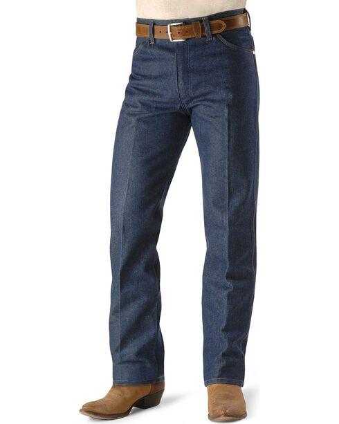 """Wrangler Jeans - 13MWZ Original Fit Rigid - 38"""" & 40"""" Tall Inseams, Indigo, hi-res"""