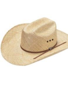 Twister Men's Natural Sisal Eyelet Western Straw Hat , Natural, hi-res